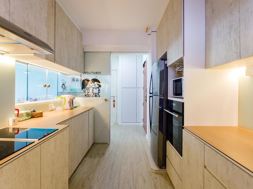 Scandinavian, HDB, Kitchen, Yishun Street 51, Interior Designer, Ascenders Design Studio, Building, Housing, Indoors, Loft, Interior Design