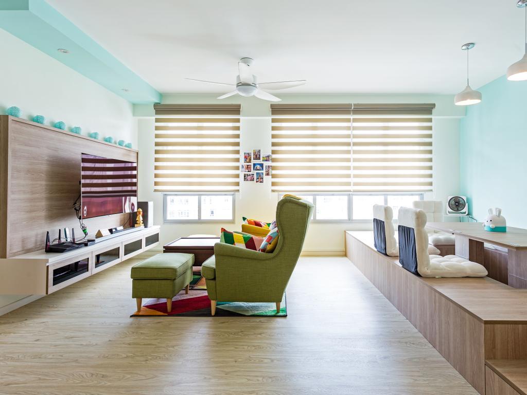 Scandinavian, HDB, Living Room, Yishun Street 51, Interior Designer, Ascenders Design Studio, Indoors, Room, Interior Design, Couch, Furniture