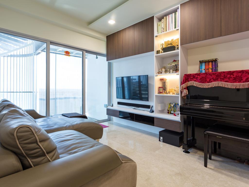 Contemporary, Condo, Living Room, Eight Riversuites, Interior Designer, Space Define Interior, Indoors, Room, Leisure Activities, Music, Musical Instrument, Piano