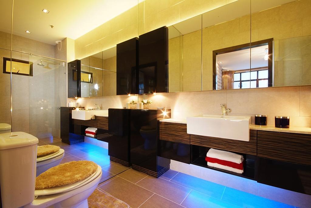 Modern, Condo, Bathroom, Saville Residences, Interior Designer, The Arch, Lighting