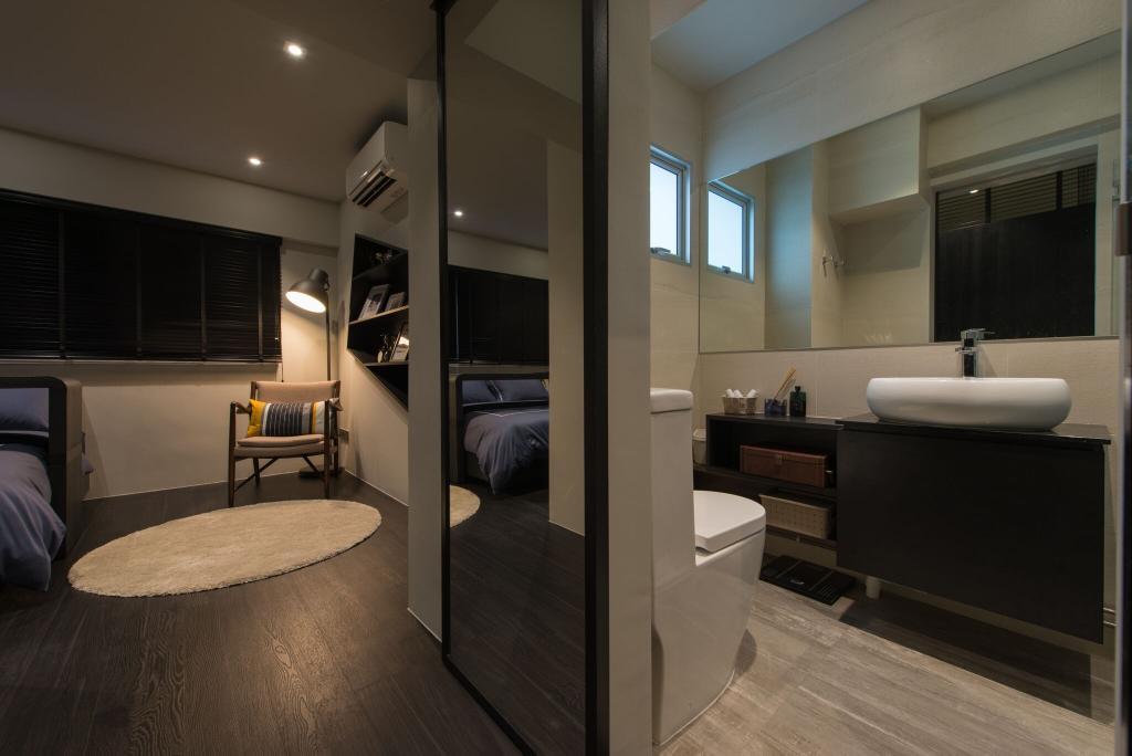 Contemporary, HDB, Bedroom, Hougang Avenue 1 (Block 234), Interior Designer, Forefront Interior, Bathroom, Indoors, Interior Design, Room