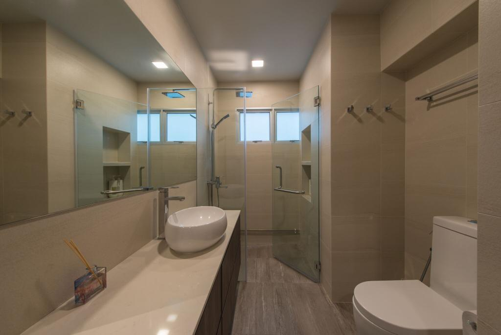 Contemporary, HDB, Bathroom, Hougang Avenue 1 (Block 234), Interior Designer, Forefront Interior, Toilet, Indoors, Interior Design, Room
