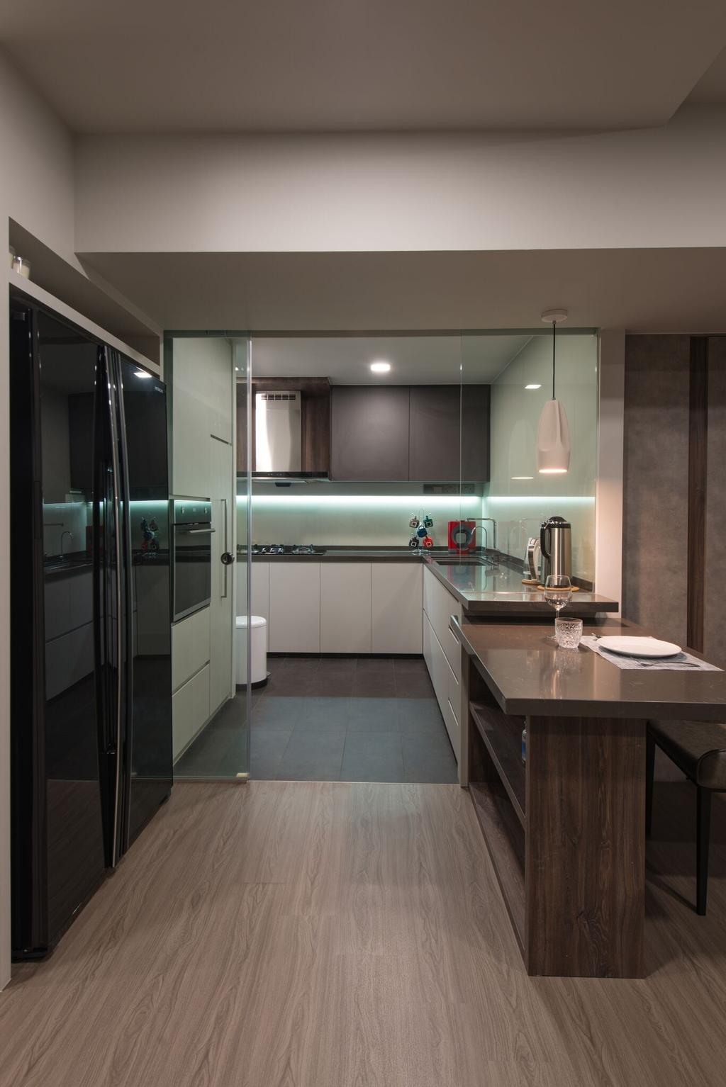 Contemporary, HDB, Kitchen, Hougang Avenue 1 (Block 234), Interior Designer, Forefront Interior, Sink
