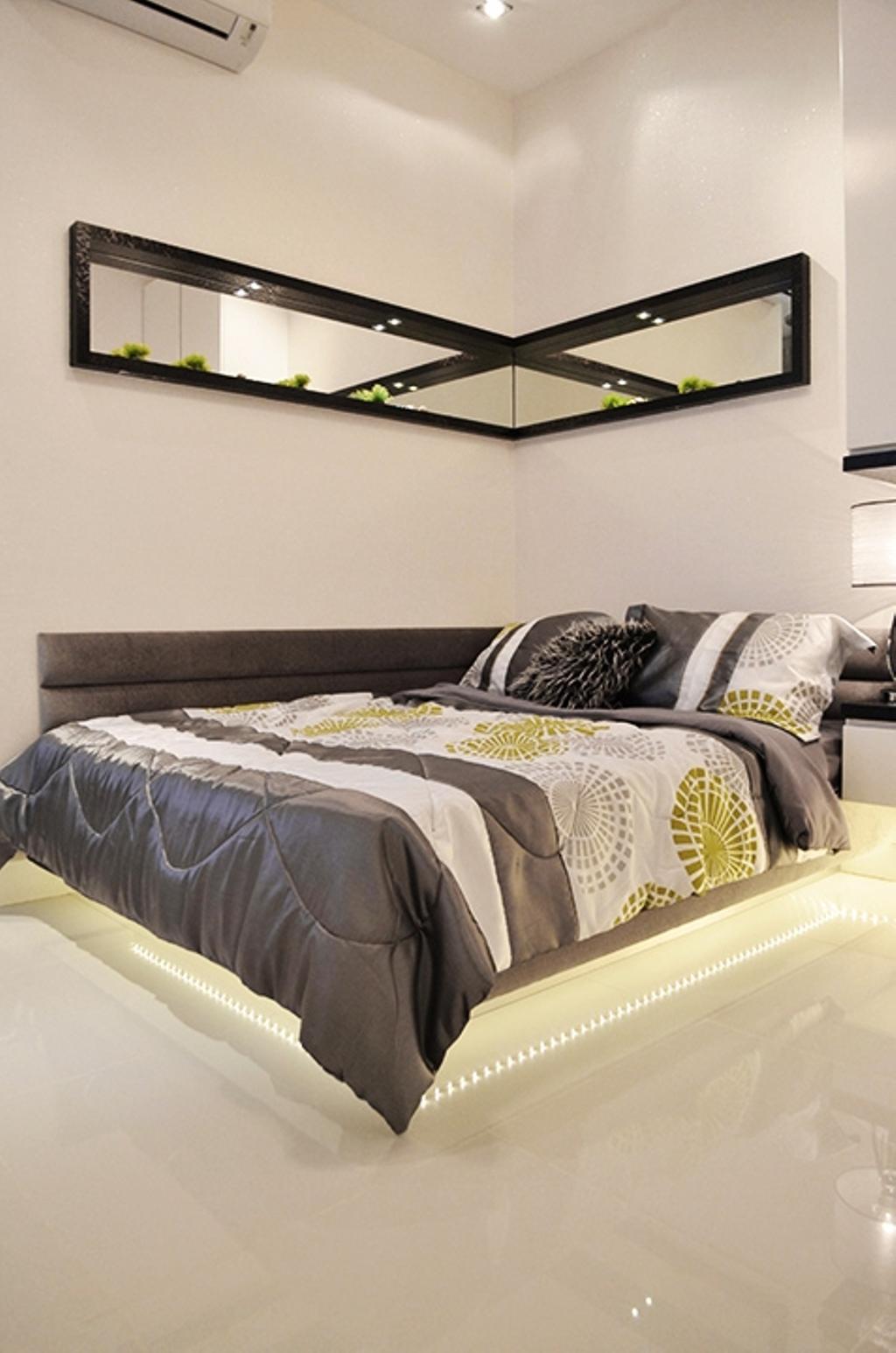 Modern, Condo, Bedroom, Fortune Perdana Lakeside Residences, Interior Designer, The Arch, Bed, Furniture