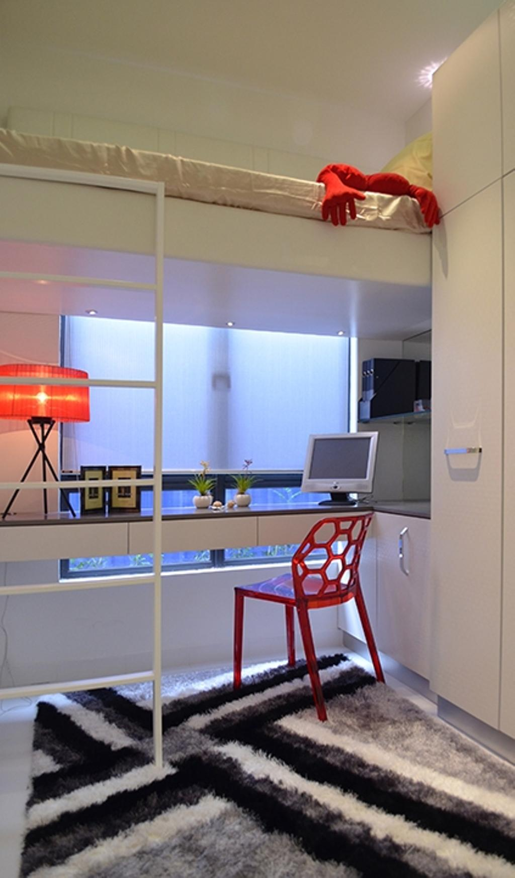 Modern, Condo, Bedroom, Fortune Perdana Lakeside Residences, Interior Designer, The Arch, Light Fixture, Electronics, Monitor, Screen