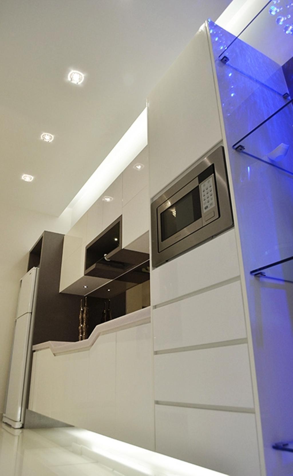Modern, Condo, Kitchen, Fortune Perdana Lakeside Residences, Interior Designer, The Arch, Banister, Handrail, Staircase