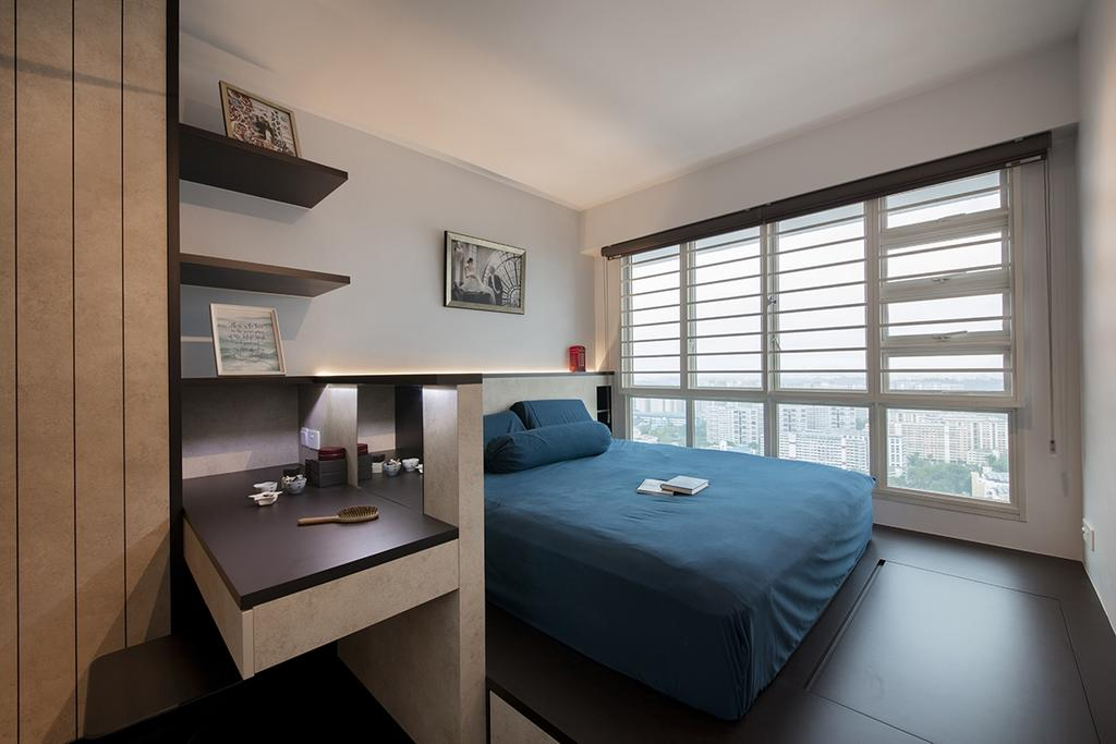 Modern, HDB, Bedroom, Bukit Batok West Avenue 6, Interior Designer, Edge Interior, Bed, Furniture, Indoors, Interior Design, Room