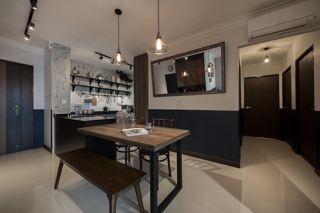 Modern, HDB, Dining Room, Bukit Batok West Avenue 6, Interior Designer, Edge Interior, Indoors, Interior Design, Room, Chair, Furniture, Dining Table, Table