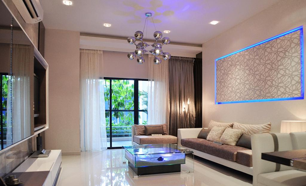 Modern, Condo, Living Room, Fortune Perdana Lakeside Residences, Interior Designer, The Arch, Window, Indoors, Room, Couch, Furniture, Coffee Table, Table, Interior Design