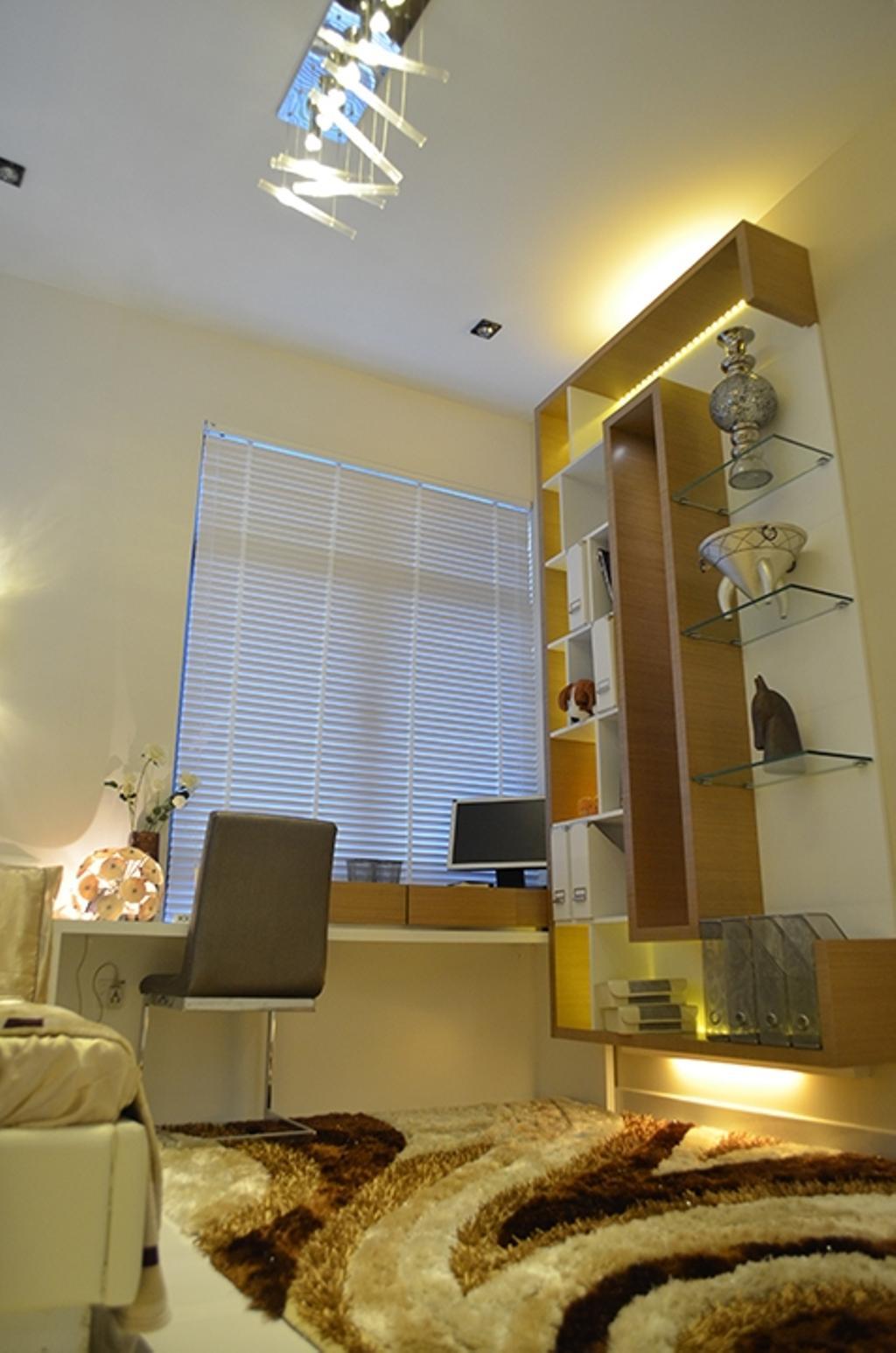 Modern, Condo, Bedroom, Fortune Perdana Lakeside Residences, Interior Designer, The Arch, Electronics, Monitor, Screen, Tv, Television