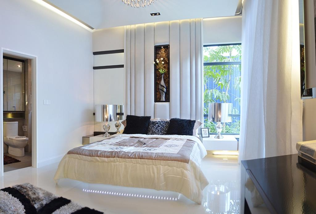 Modern, Condo, Bedroom, Fortune Perdana Lakeside Residences, Interior Designer, The Arch, Toilet, Indoors, Interior Design, Room, Bed, Furniture