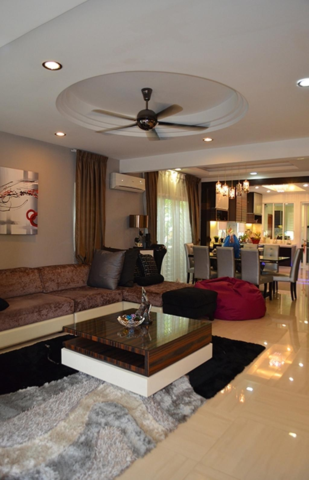 Traditional, Landed, Living Room, Bandar Utama 4, Interior Designer, The Arch, Couch, Furniture, Appliance, Electrical Device, Oven