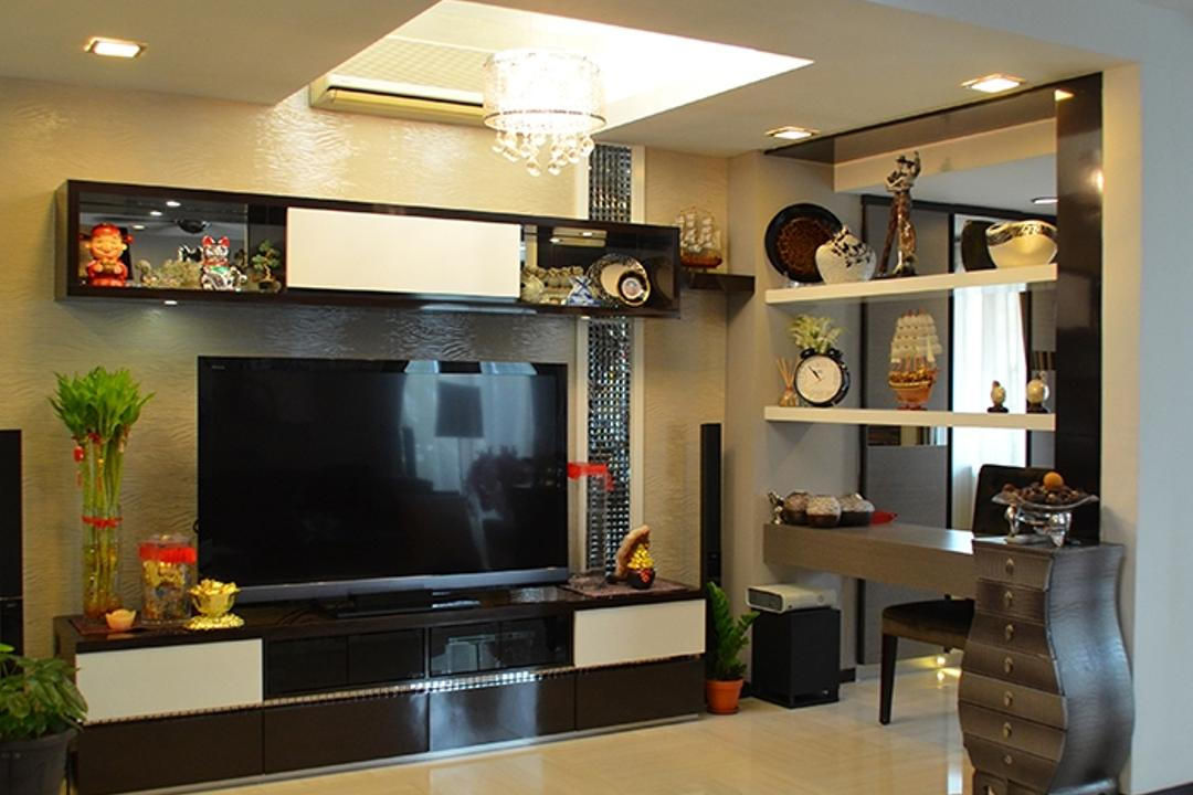 Bandar Utama 4, The Arch, Traditional, Living Room, Landed, Flora, Jar, Plant, Potted Plant, Pottery, Vase, Furniture, Sideboard, Electronics, Lcd Screen, Monitor, Screen, Entertainment Center, Home Theater, Dining Room, Indoors, Interior Design, Room