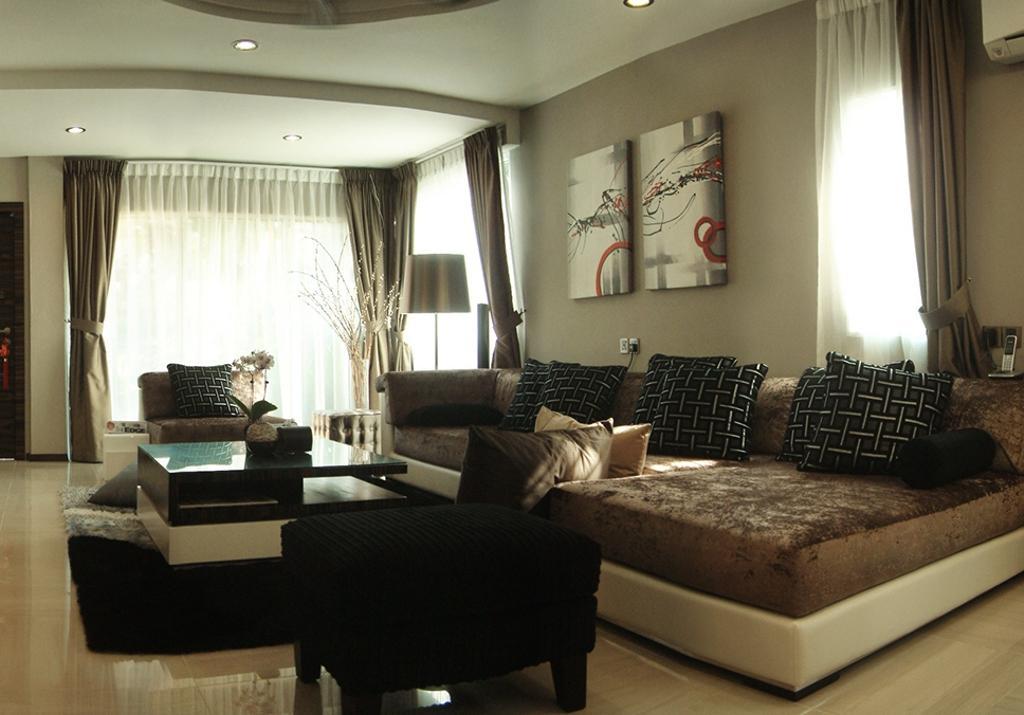 Traditional, Landed, Living Room, Bandar Utama 4, Interior Designer, The Arch, Couch, Furniture, Indoors, Room
