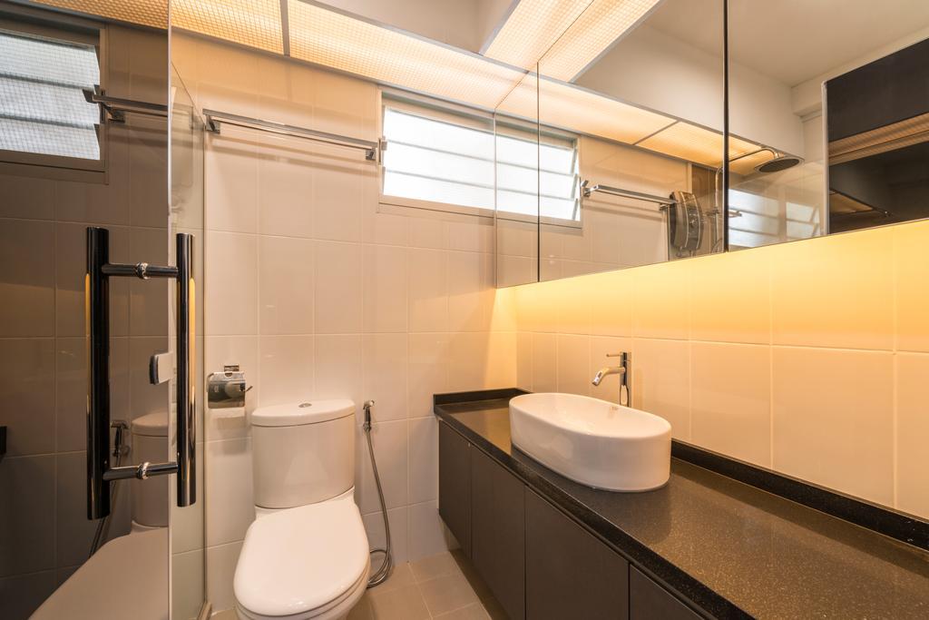 Modern, HDB, Bathroom, Upper Serangoon Crescent, Interior Designer, Fifth Avenue Interior, Indoors, Interior Design, Room, Toilet