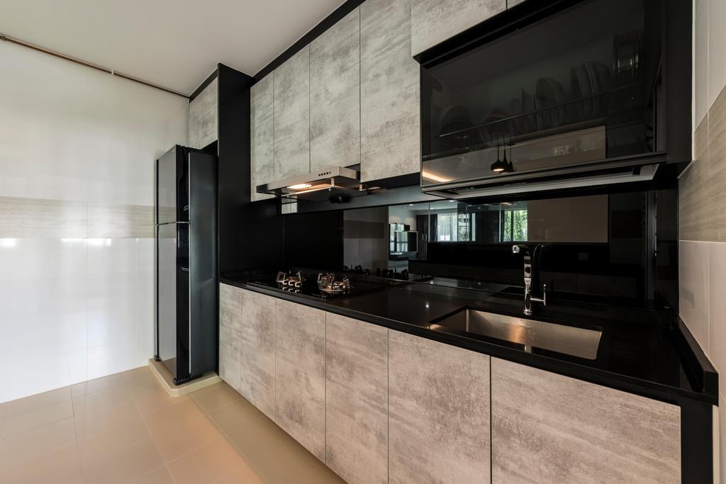 Modern, HDB, Kitchen, Upper Serangoon Crescent, Interior Designer, Fifth Avenue Interior, Indoors, Interior Design, Room