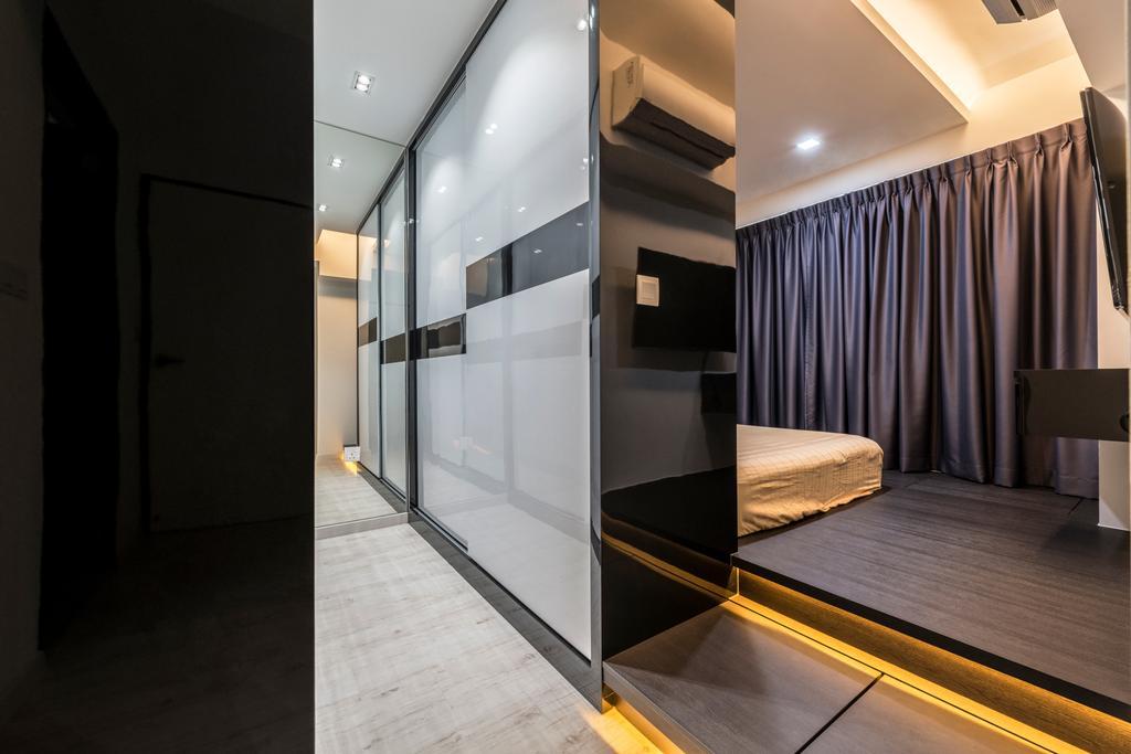 Modern, HDB, Bedroom, Upper Serangoon Crescent, Interior Designer, Fifth Avenue Interior, Corridor, Indoors, Interior Design
