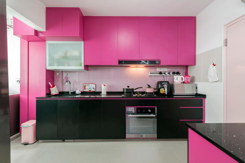 Modern, HDB, Kitchen, Compassvale Drive (Block 215), Interior Designer, Fifth Avenue Interior, Appliance, Electrical Device, Oven, Indoors, Interior Design, Room