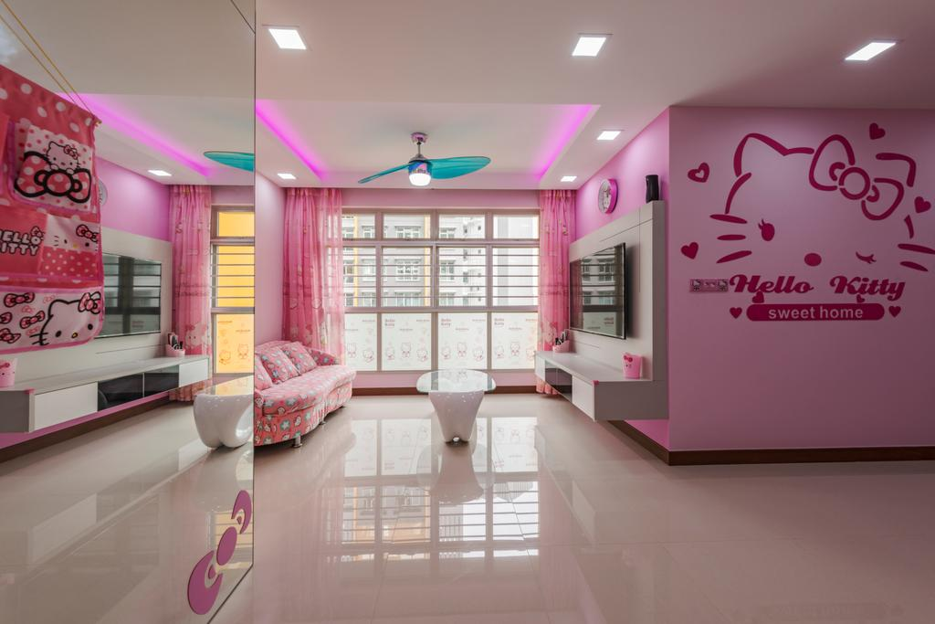 Modern, HDB, Living Room, Compassvale Drive (Block 215), Interior Designer, Fifth Avenue Interior, Indoors, Interior Design