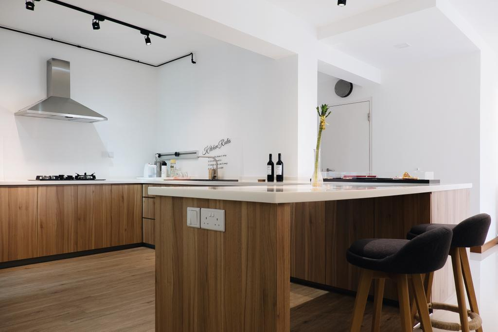 Minimalistic, HDB, Dining Room, Punggol Way (Block 315A), Interior Designer, Fifth Avenue Interior, Chair, Furniture
