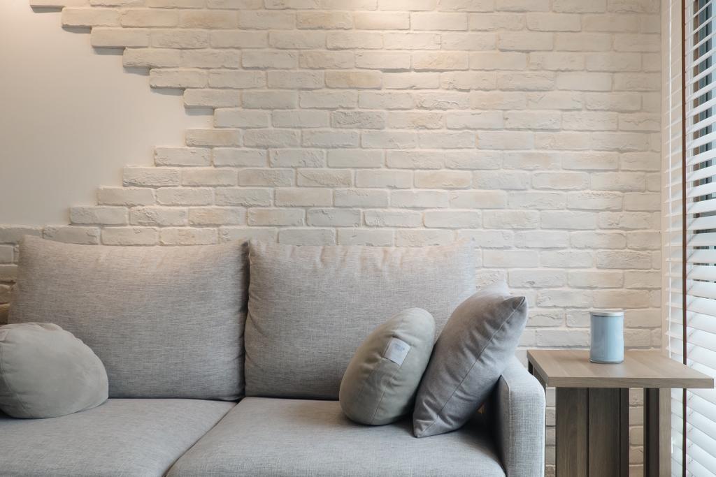 Minimalistic, HDB, Living Room, Punggol Way (Block 315A), Interior Designer, Fifth Avenue Interior, Couch, Furniture, Chair