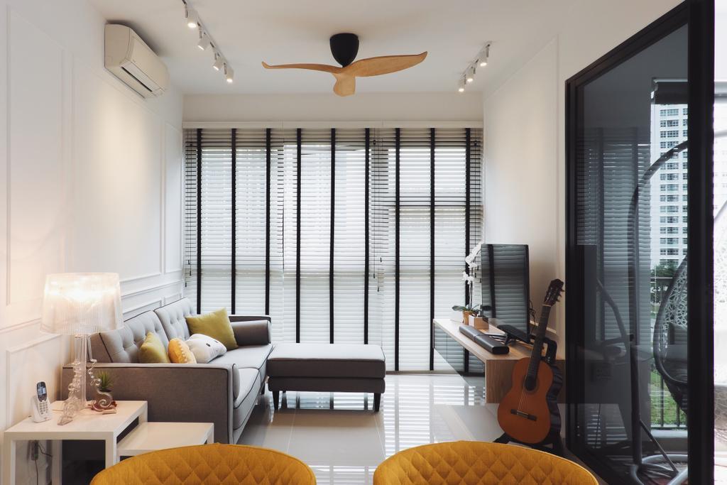 Scandinavian, Condo, Living Room, Lush Acres (Block 7), Interior Designer, Fifth Avenue Interior, Couch, Furniture, Indoors, Interior Design