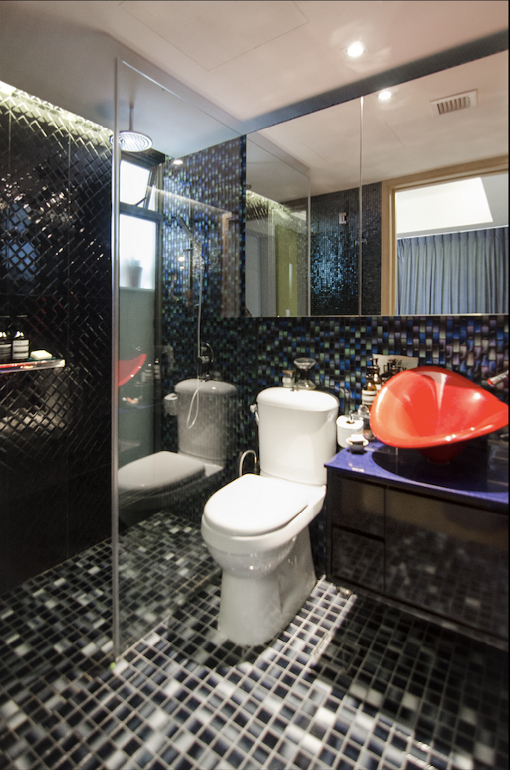 Retro, Condo, Bathroom, Aspen LinQ, Interior Designer, Create, Eclectic, Toilet