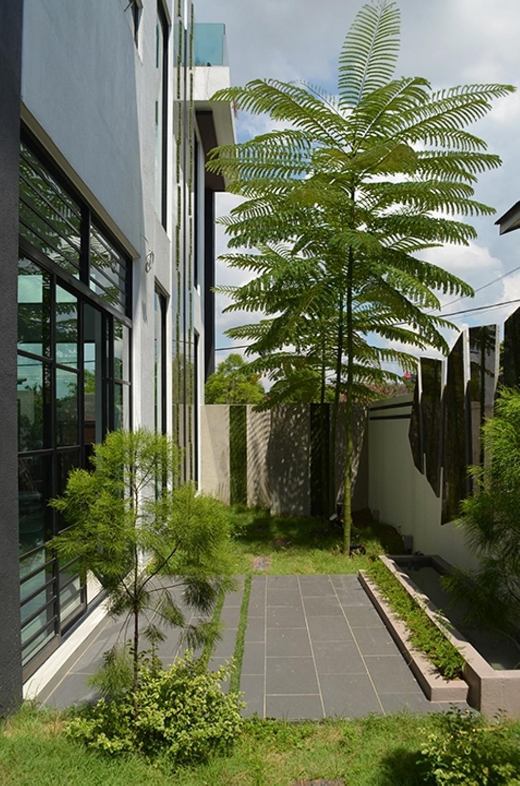 Modern, Landed, Garden, SS1, Interior Designer, The Arch, Flora, Jar, Plant, Potted Plant, Pottery, Vase, Patio, Pergola, Porch, Fern