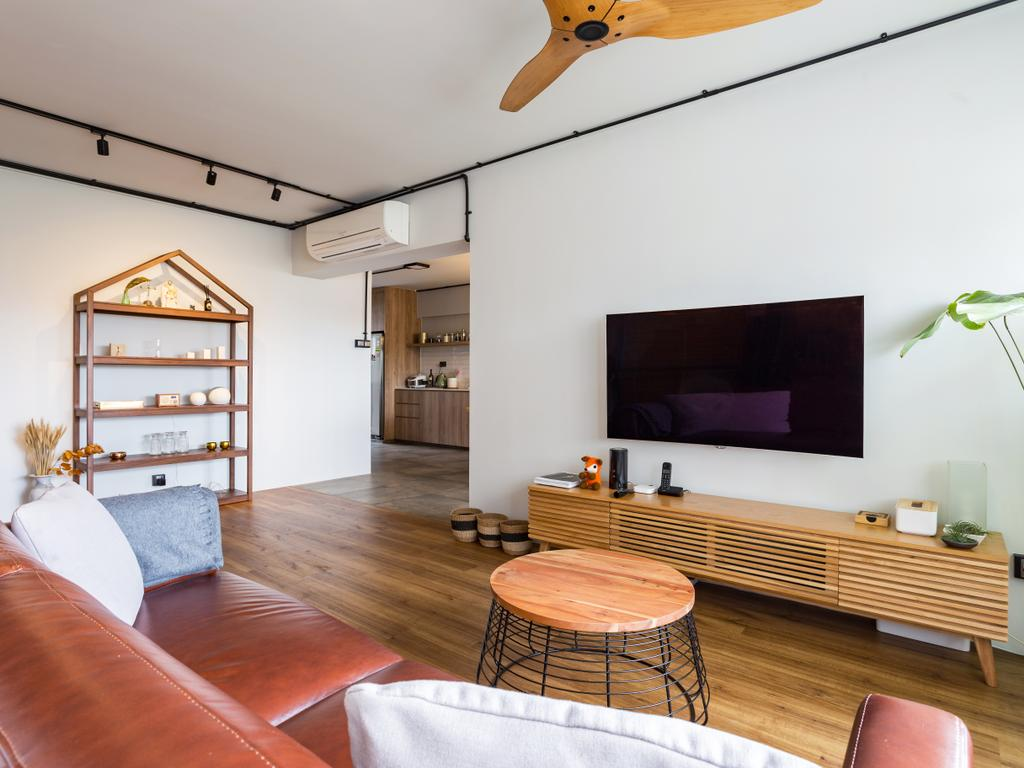 Eclectic, HDB, Living Room, Serangoon Avenue 1, Interior Designer, Prozfile Design, Shelf, Chair, Furniture, Dining Table, Table, Indoors, Room, Dining Room, Interior Design, Canopy, Umbrella