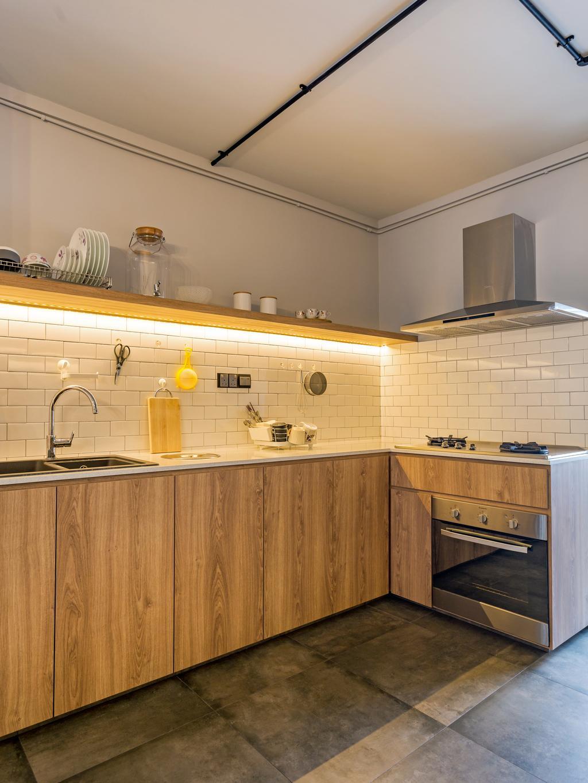 Eclectic, HDB, Kitchen, Serangoon Avenue 1, Interior Designer, Prozfile Design, Indoors, Interior Design, Room