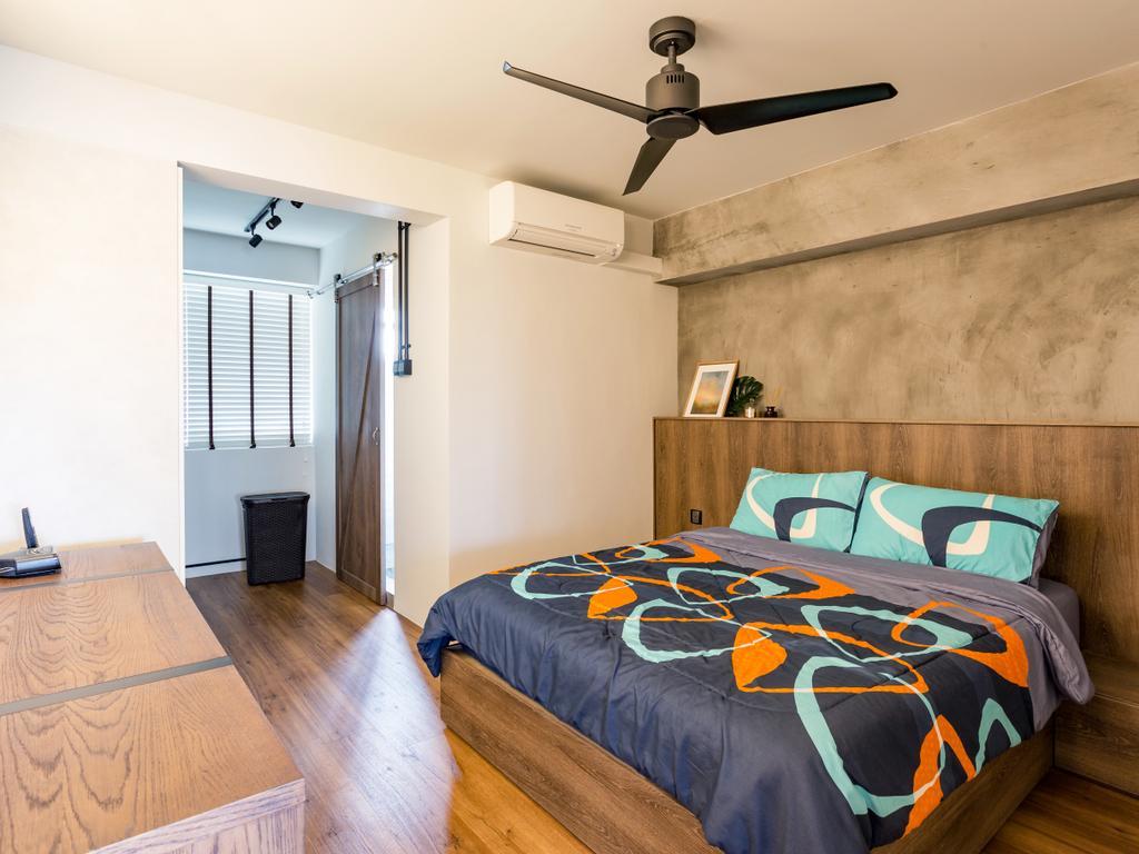 Eclectic, HDB, Bedroom, Serangoon Avenue 1, Interior Designer, Prozfile Design, Flooring, Bed, Furniture, Indoors, Interior Design, Room