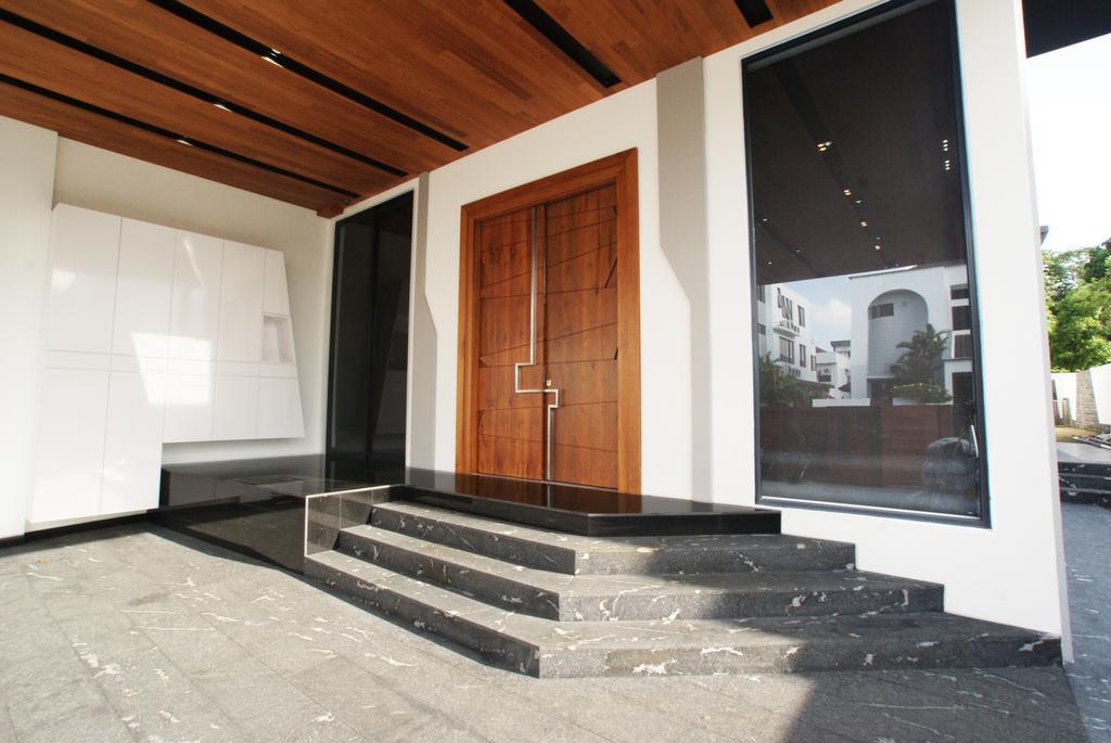 Modern, Landed, 9 Springleaf, Interior Designer, Metamorph Design, Door, Entrance Door, Front Door, HDB, Building, Housing, Indoors, Loft