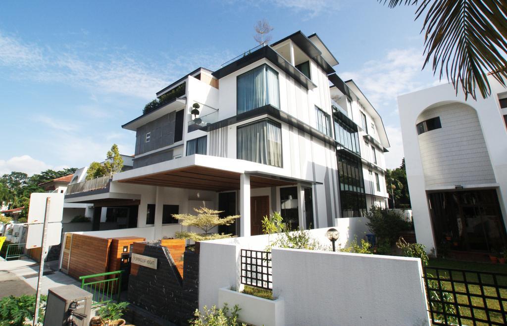 Modern, Landed, 9 Springleaf, Interior Designer, Metamorph Design, Exterior, House Exterior, Building, Housing