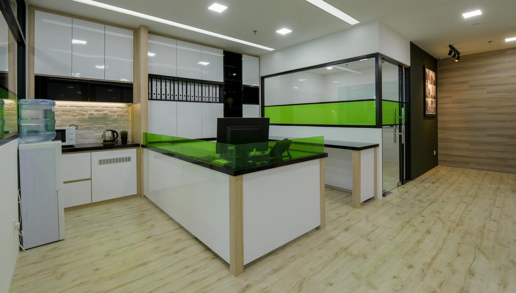 8TRIUM, Commercial, Interior Designer, Posh Living Interior Design, Contemporary, Furniture, Reception, Reception Desk, Table, Electronics, Entertainment Center