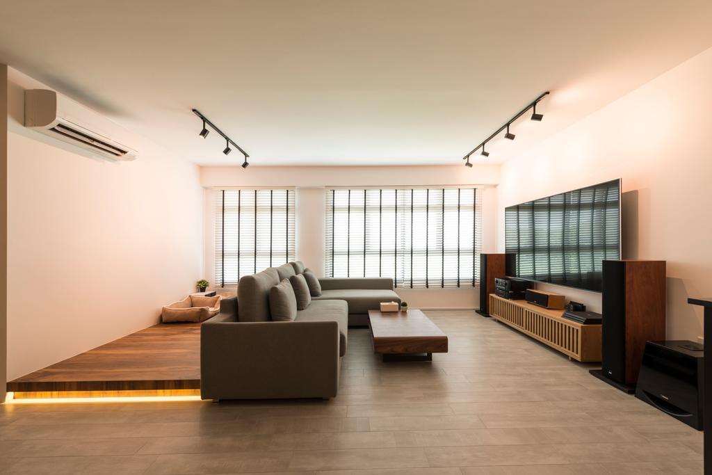 Industrial, HDB, Living Room, Angsana Breeze (Block 509), Interior Designer, Posh Living Interior Design, Scandinavian, Flooring, Couch, Furniture