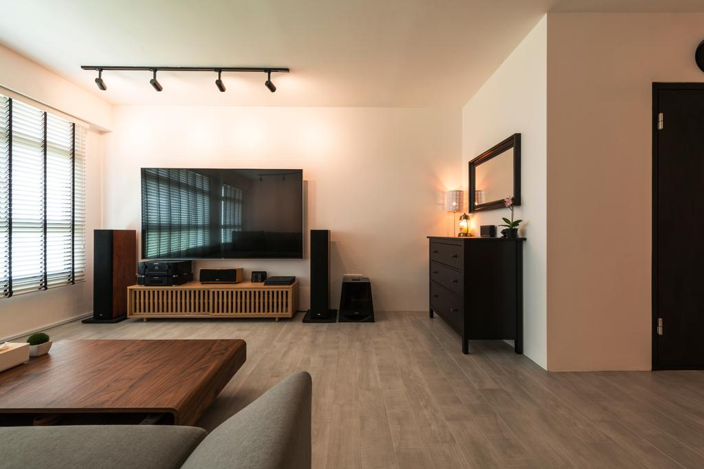 Industrial, HDB, Living Room, Angsana Breeze (Block 509), Interior Designer, Posh Living Interior Design, Scandinavian, Furniture, Sideboard, Flooring, Indoors, Interior Design
