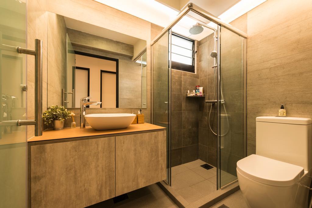 Industrial, HDB, Bathroom, Angsana Breeze (Block 509), Interior Designer, Posh Living Interior Design, Scandinavian, Toilet, Indoors, Interior Design, Room, Sink