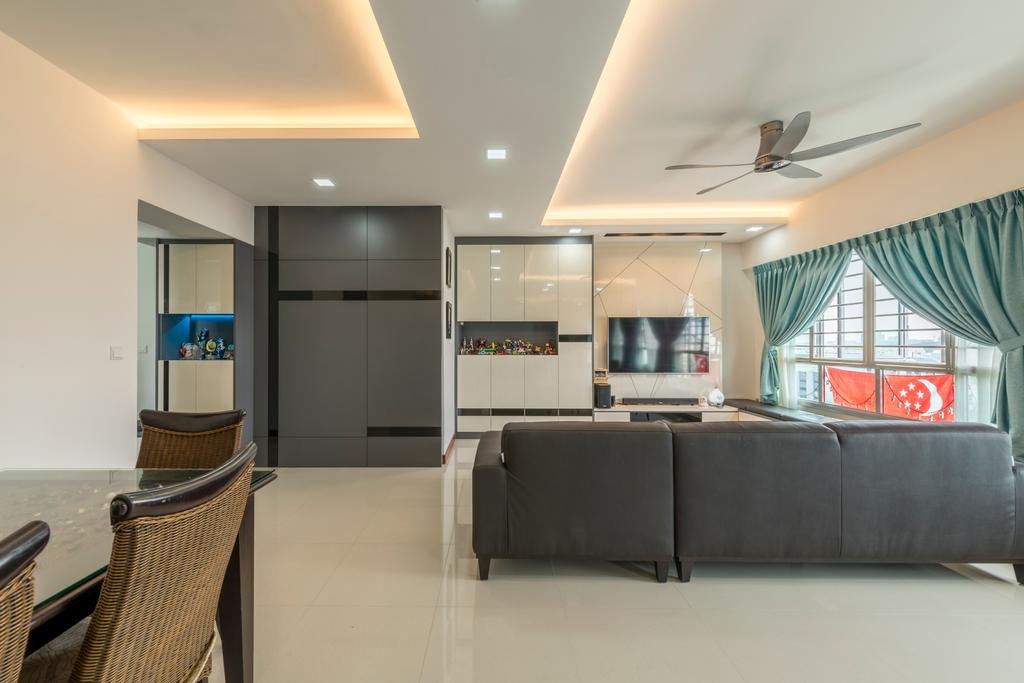 Traditional, HDB, Living Room, Tree Trail (Block 890B), Interior Designer, Posh Living Interior Design, Couch, Furniture, Indoors, Interior Design