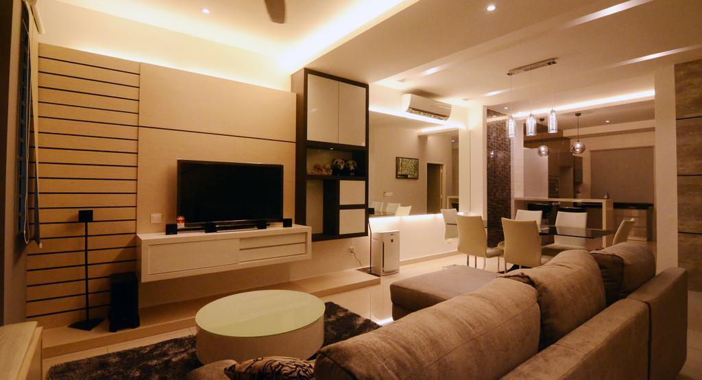 Contemporary, Landed, Living Room, Setia Vista, Interior Designer, JGiConcept Design, Couch, Furniture, Indoors, Interior Design