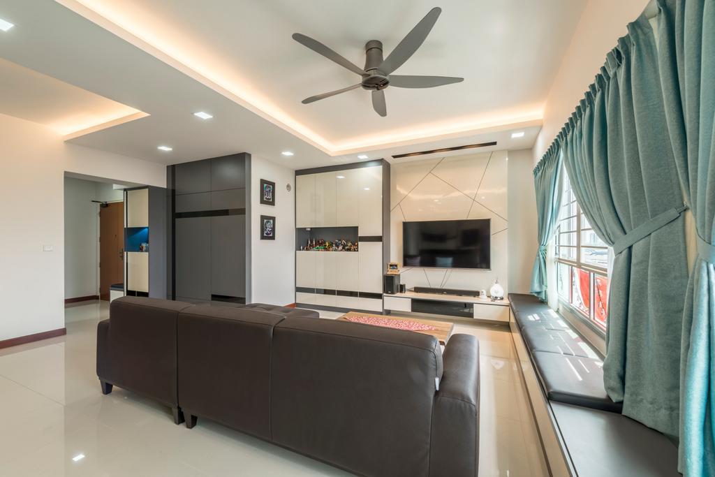 Traditional, HDB, Living Room, Tree Trail (Block 890B), Interior Designer, Posh Living Interior Design, Sink, Couch, Furniture