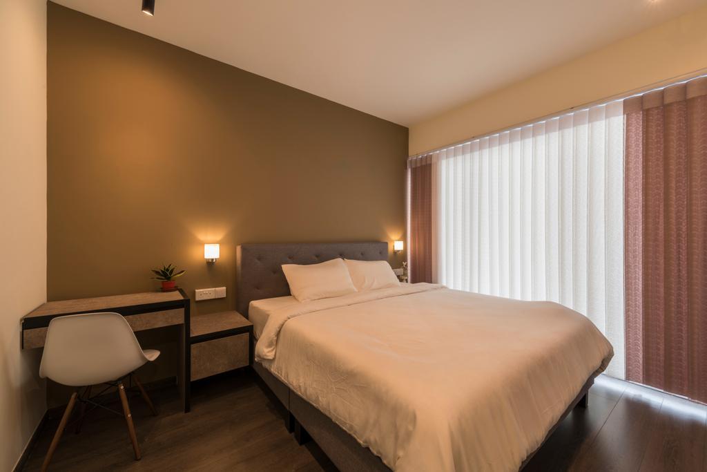 Industrial, Condo, Bedroom, Ecopolitan, Interior Designer, Posh Living Interior Design, Chair, Furniture, Indoors, Room, Couch, Bed, Interior Design