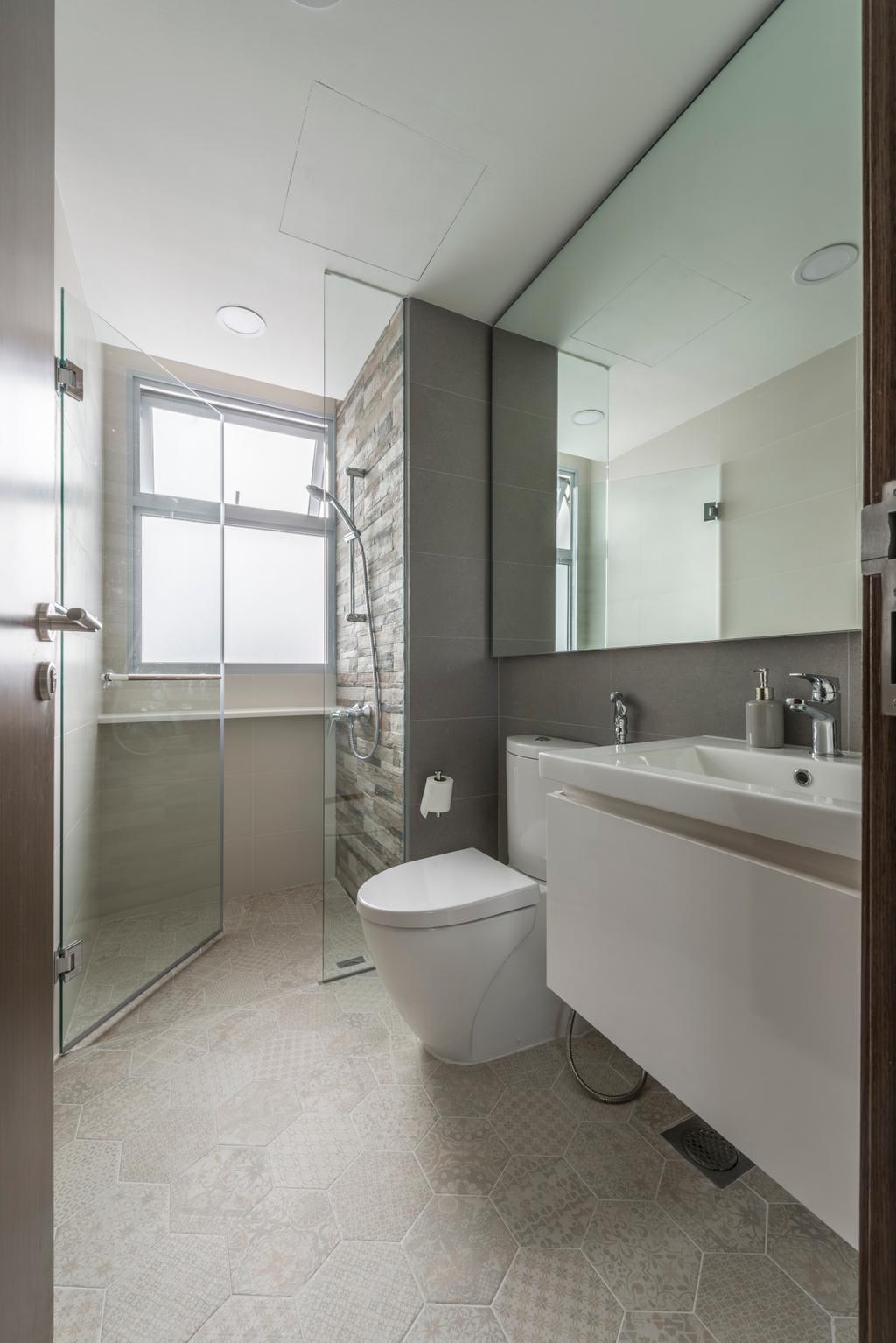 Industrial, Condo, Bathroom, Ecopolitan, Interior Designer, Posh Living Interior Design, Indoors, Interior Design, Room, Sink