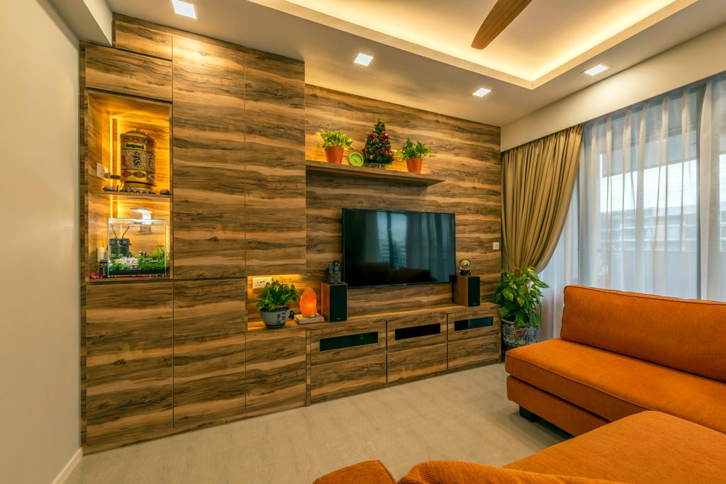 Contemporary, Condo, Living Room, Parc Centros, Interior Designer, Posh Living Interior Design, Couch, Furniture, Indoors, Interior Design, Electronics, Entertainment Center, Home Theater