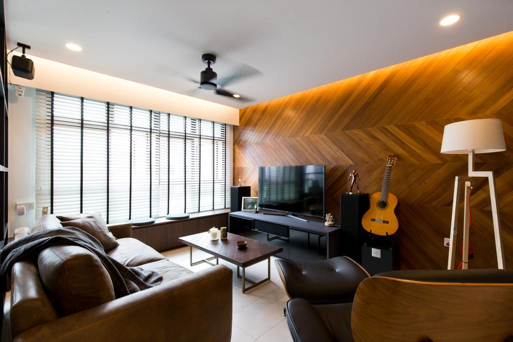 Contemporary, HDB, Living Room, Keat Hong Link, Interior Designer, Space Atelier