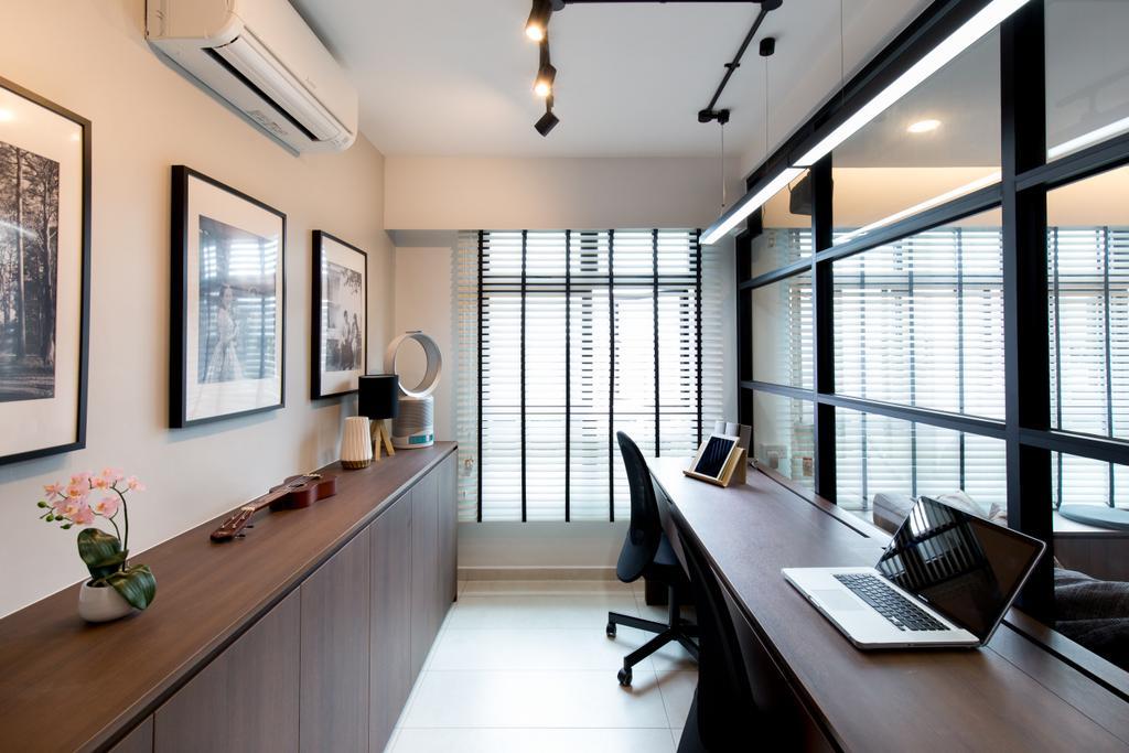 Contemporary, HDB, Study, Keat Hong Link, Interior Designer, Space Atelier