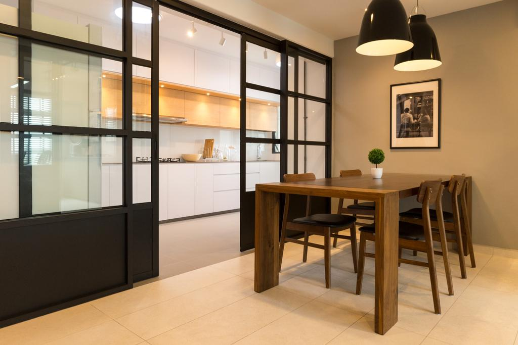 Contemporary, HDB, Dining Room, Keat Hong Link, Interior Designer, Space Atelier