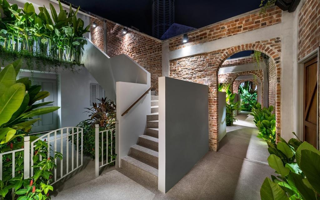 Eclectic, Landed, Garden, Loke Thye Kee Residences, Architect, Ministry of Design, Flora, Jar, Plant, Potted Plant, Pottery, Vase, Building, House, Housing, Villa
