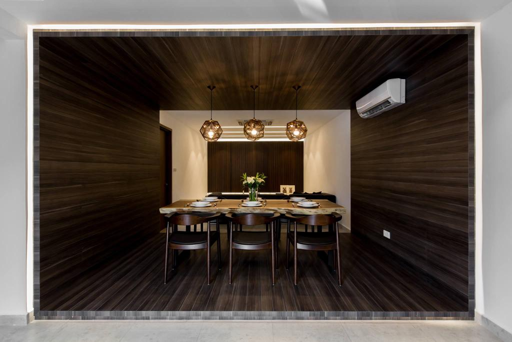 Landed, Dining Room, Tanjung Bungah, Penang, Interior Designer, Nevermore Group, Dining Table, Furniture, Table, Indoors, Interior Design, Room