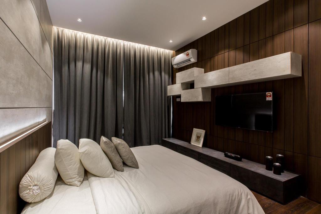Landed, Bedroom, Tanjung Bungah, Penang, Interior Designer, Nevermore Group, Indoors, Interior Design, Room, Apartment, Building, Housing, Loft