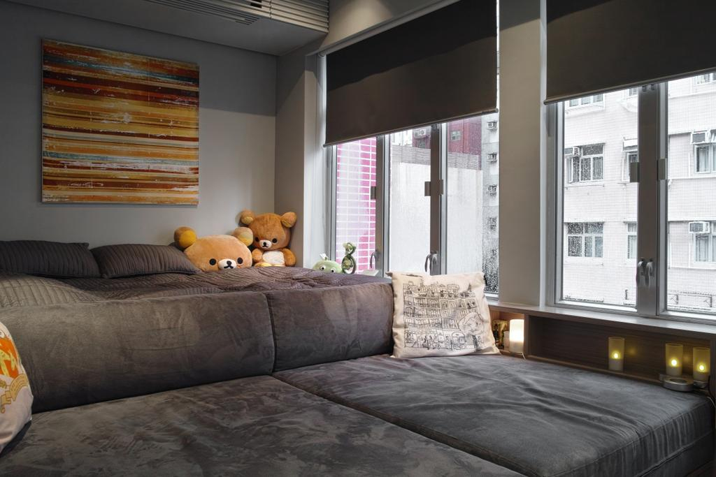 當代, 私家樓, 客廳, 愉華大廈, 室內設計師, in Him's Interior Design, Couch, Furniture, 公屋/居屋, Building, Housing, Indoors, Loft